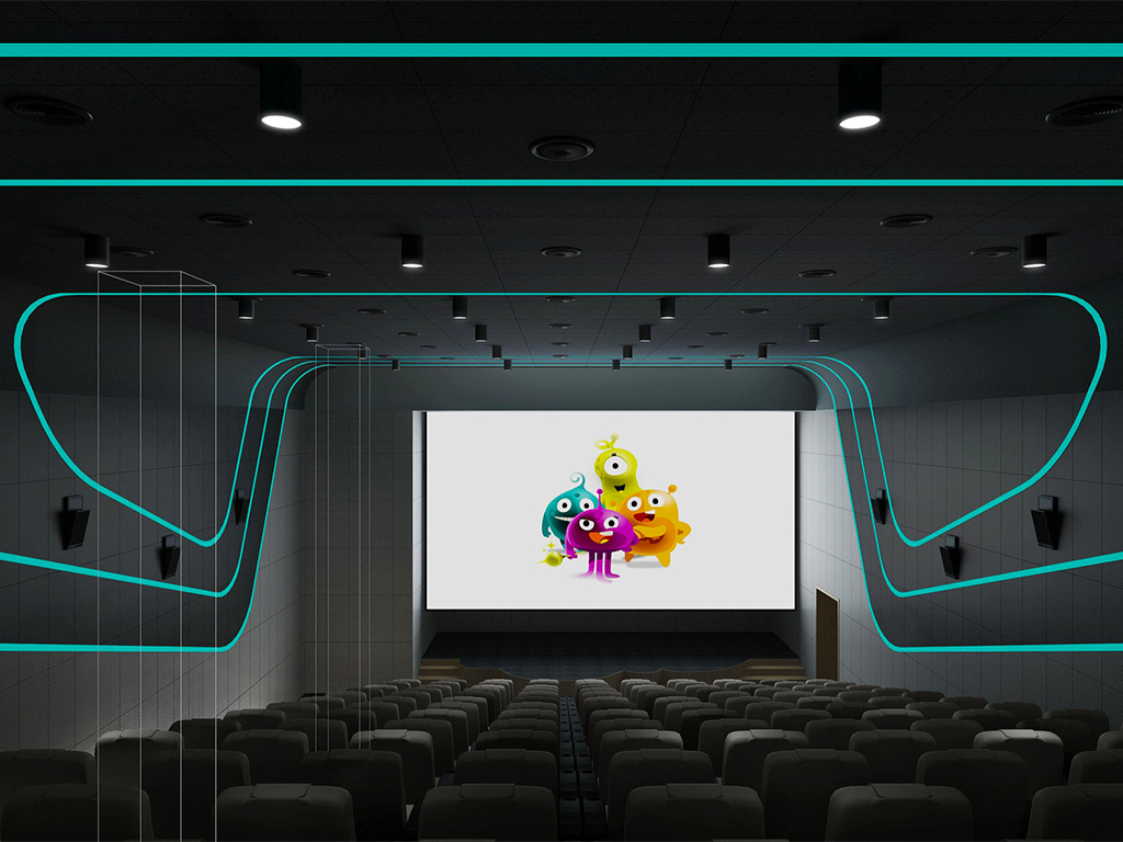Beijing kindergarten cinema interior